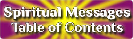 Spiritual Messages Table Of Contents
